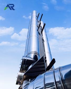 成品双层保温不锈钢烟囱