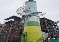 自立式钢烟囱如何美化?